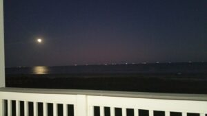 The moon over the Gulf