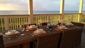 Breakfast on the lower deck